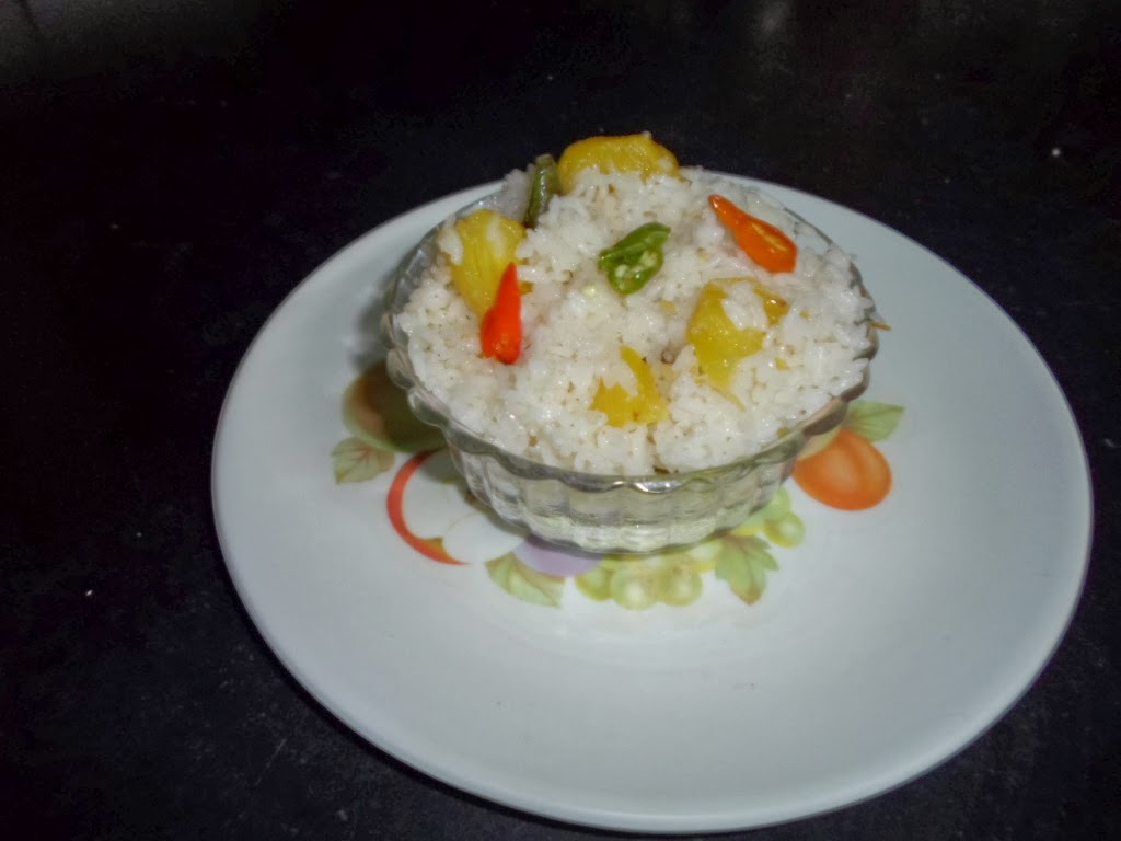 The simplified recipe for the traditional Thai Pinapple Rice