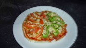 Cheese Pizza with Capsicum and Cabbage topping 1