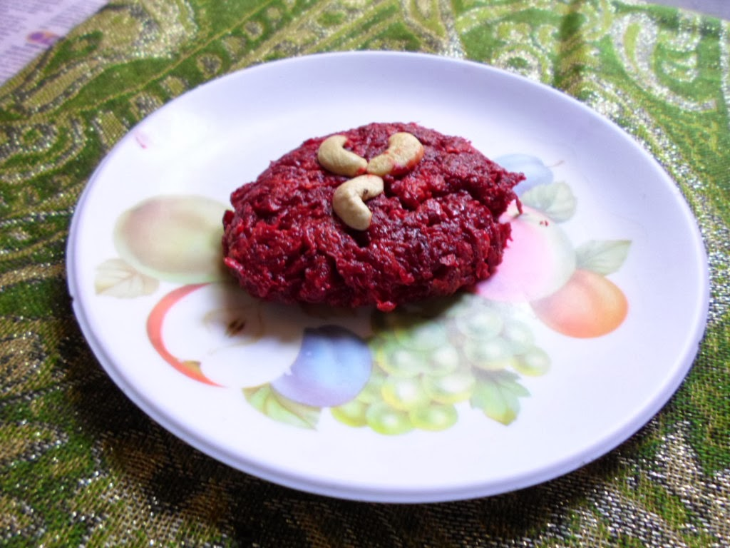 An Indian Sweet made from Beetroot