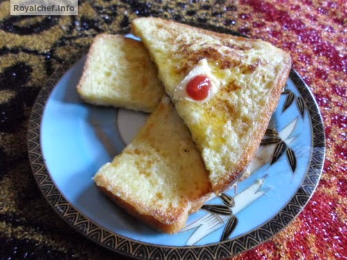 A breakfast recipe for French Toast using eggs
