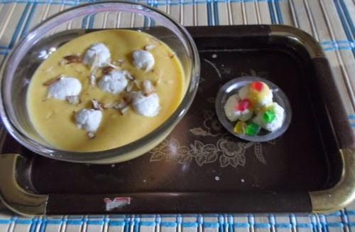Recipe for Anguri Mango Rasmalai 3