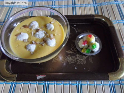 An unique Indian sweet recipe for Delicious Anguri Mango Rasmalai