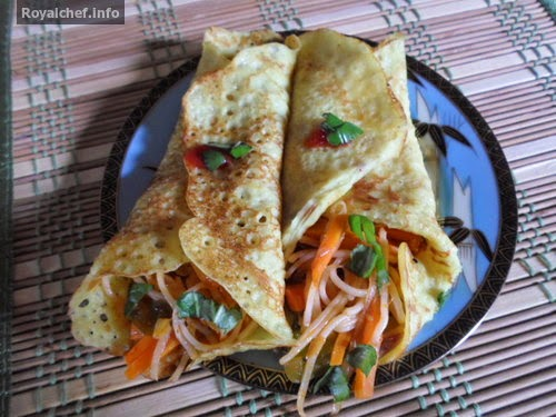 Indian Style Pan Cakes with Vegetables