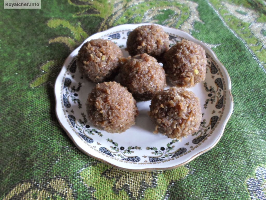 A popular recipe for kids using bournvita and cocunut to make Laddus