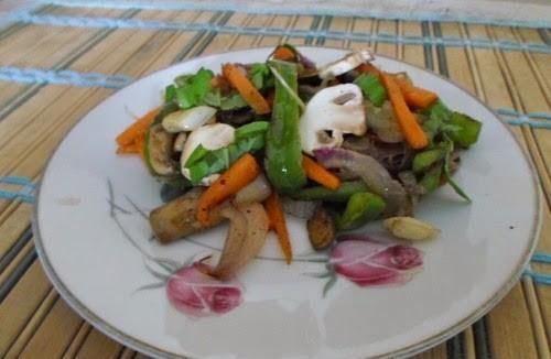 Recipe for Mushroom - Capsicum Salad 2