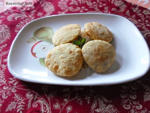 Desicatted Coconut Puries you can prepare as a sweet dish or Diwali Faral