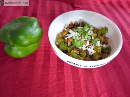 Maharashtrian preparation of spicy Capsicum vegetable