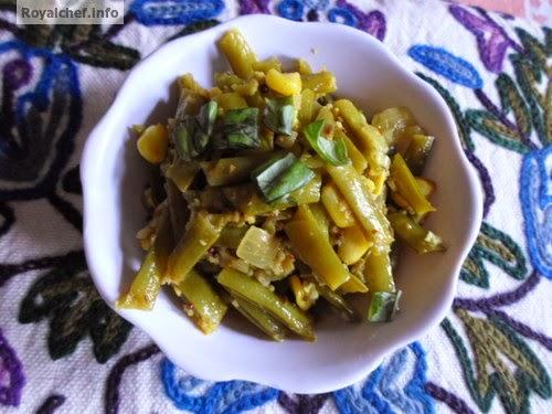 Maharashtrian Gawar chi Bhaji is a typical Maharashtrian vegetable dish