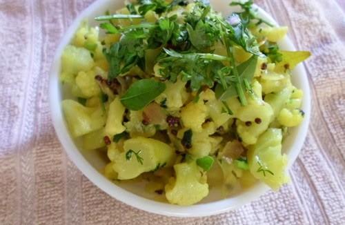 Maharashtrian style Cauliflower chi Bhaji 2