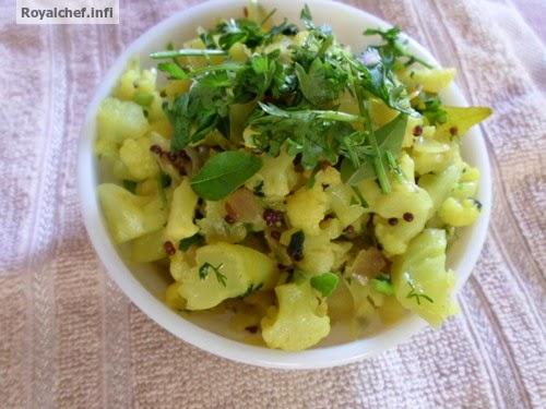 A traditional preparation from Maharashtra of the Cauliflower chi Bhaji