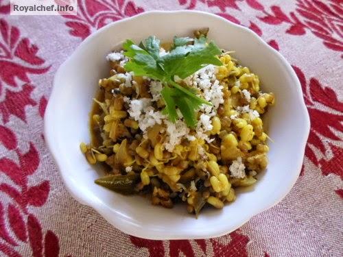 A Maharashtrian dish of Goda Masala chi Matki Usal