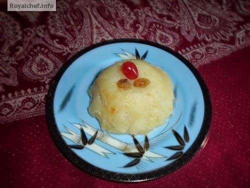 A Maharashtrin dish of Shahee Potato Sheera prepared on fasting days.