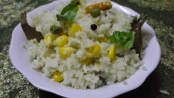 Recipe for Corn-Mutter fried Rice 1