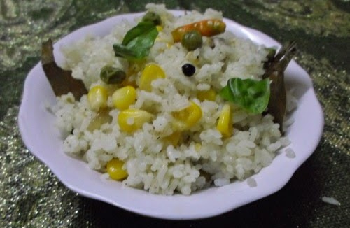 Recipe for Corn-Mutter fried Rice 2