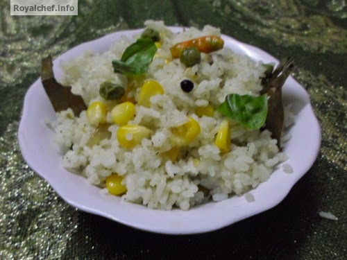 A Recipe for Corn-Mutter fried Rice
