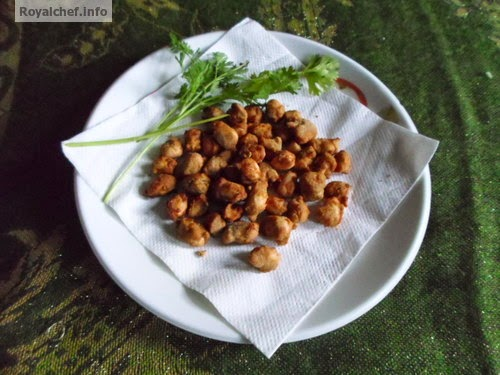 Water Chestnut flour coated peanuts for fasting