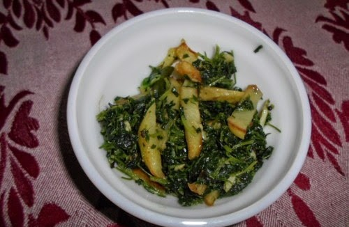 Methi Bhaji with Potato French Fries 4