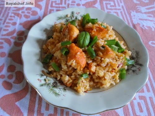 The famed Chinese dish of Chicken Schezwan Fried Rice