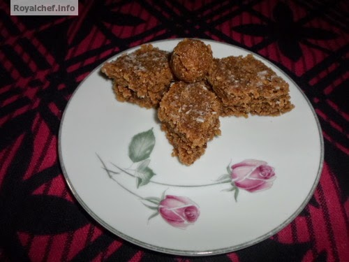 Delicious Diwali Faral Sweet Dish of Chocolate-Coconut Vadi