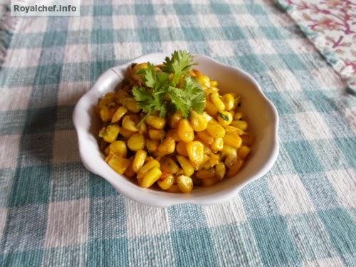 A Maharashtrian preparation of Sweet Corn Usal