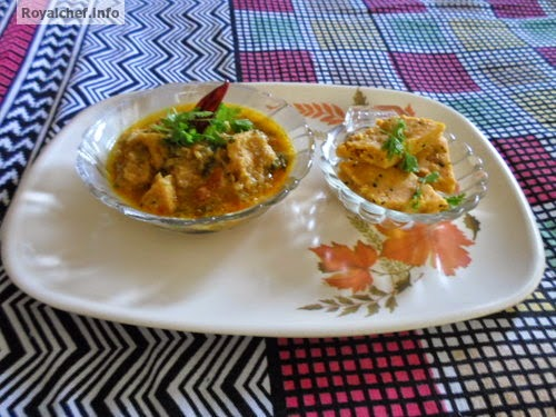 A spicy Maharashtrian dish with Gram Flour as the main ingredent