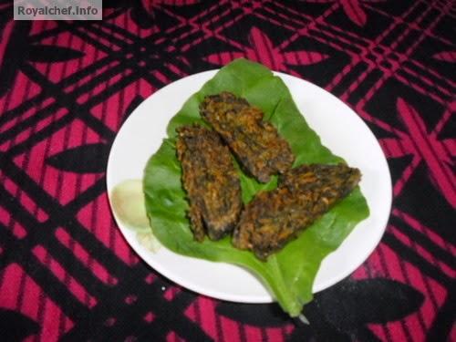 Crispy spinach Vadi from Maharashtra