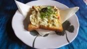 Mushroom Cheese Toast in White Sauce 1