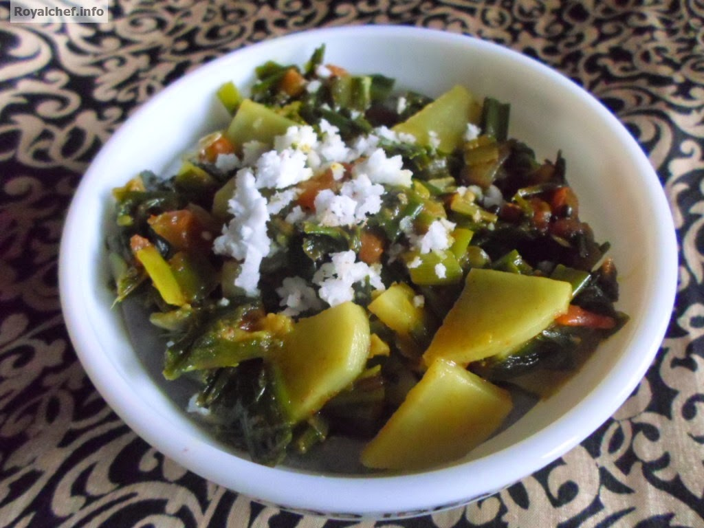 A vegeatble preparation known as Kandyachi Path in Maharashtra
