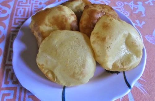 Crispy Sweet Lal Bhoplyachi Puri 2