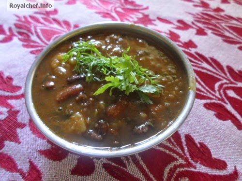A main course dish prepared using the Rajma Pulse