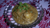 Brown and White Gravy Kashmiri Dum Aloo 1