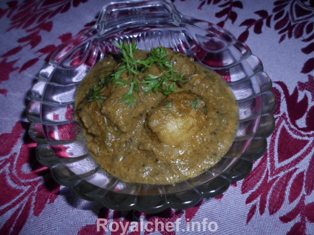 The special Kashmiri Brown and White Gravy Kashmiri Dum Aloo