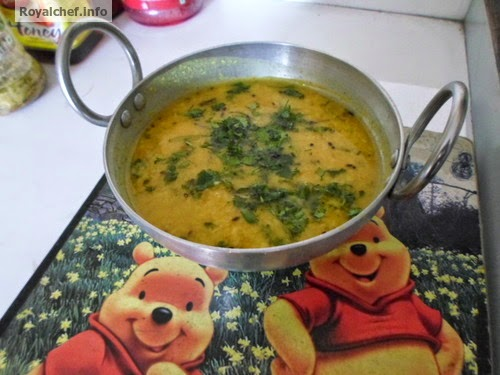 A Dal preparation in the Konkani style of cooking