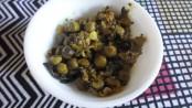fresh green chickpeas dish