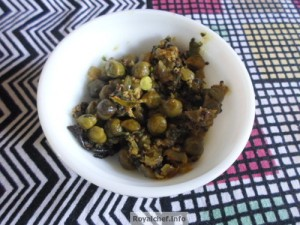 fresh green chickpeas dish