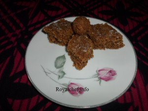 Chocolate Coconut Vadi - Marathi