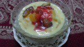 Fruit Custard Pudding - Marathi
