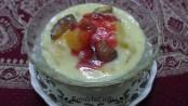 Fruit Custard Pudding - Marathi