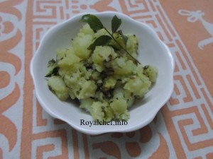 Maharashtrian Potato Fasting Bhaji