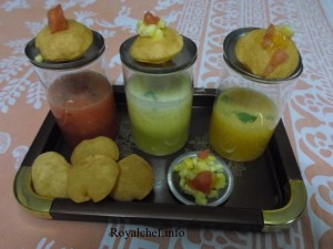 Fruit Varient of the Pani Puri