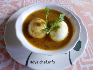 Masala Egg Curry in Coconut Milk