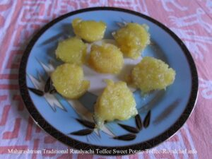 Maharashtrian Traditional Ratalyachi Toffee Sweet Potato Toffee