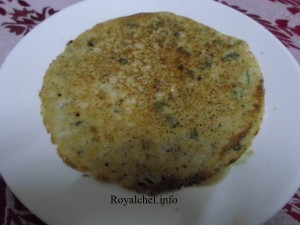 Oats Dosa a popular Indian Snack