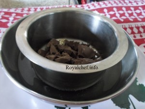 Chocolate Double Boiling Method for making Chocolates