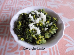 Suva/Savaa or Dill Leaves Vegetable Dish