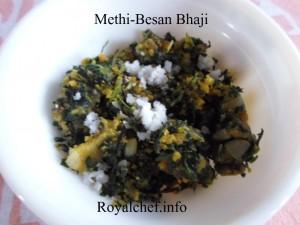Besan Perun Methichi Bhaji