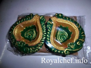 HomemadeDiya for Diwali