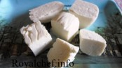 Paneer prepared at home