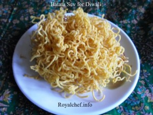 Potato Sev for Diwali