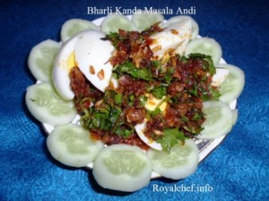 Stuffed Onion Masala Eggs